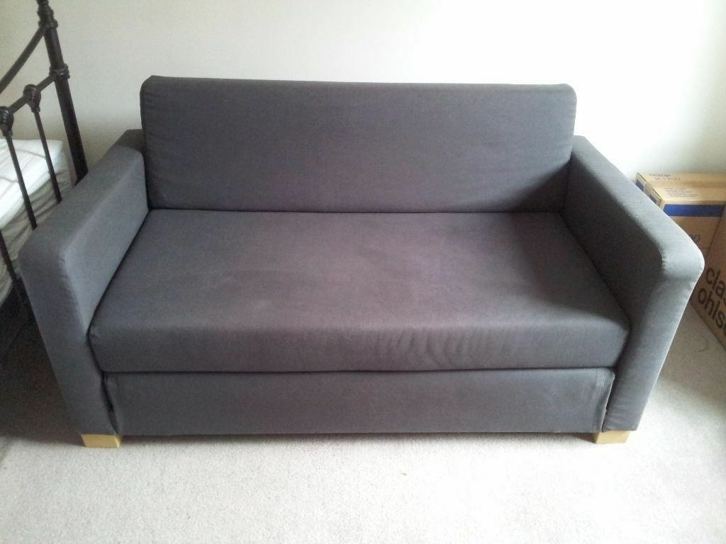 Ikea ullvi 2 seater sofa bed in dark grey in kingston for Ikea gray sofa