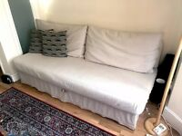 IKEA HIMMENE Three seat sofa bed, beige / cream sleeper couch (RRP £350)