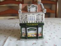 'The Village' collectables-provision store Tea-caddy with lid.