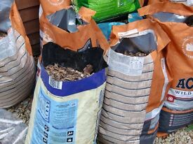 bags of wood chippings