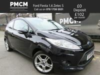 FORD FIESTA 2008 1.6 ZETEC S 3dr - ONLY 62,816 MILES - LONG MOT - corsa clio polo focus (black) 2008