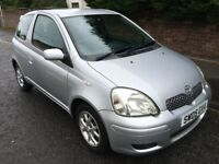 TOYOTA YARIS 1.3 VVT 3 DOOR HATCH ** 05 PLATE ** 50,000 MILES *