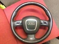 Audi s5 steering wheel with airbag .a4 A6 rs4 rs5