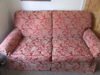 Sofa - 2 Seater -Red and Gold Pattern - Super Comfy