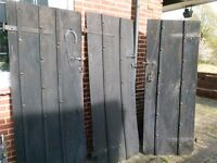 outside solid oak doors from the late 1920's. x3.