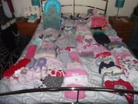 BABY CLOTHES GIRLS 0-3 MONTHS & 3-6 MONTHS, MORE THAN 90 ITEMS (JOB LOT)