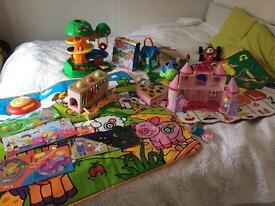 Elc leapfrog vtech wooden toys musical rugs racer car elc castle