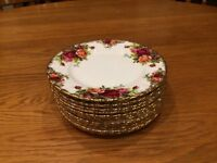 Royal Albert china side plates