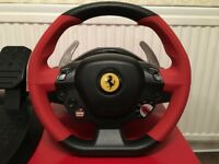 Ferrari Thrustmaster Steering Wheel and Pedals for Xbox One