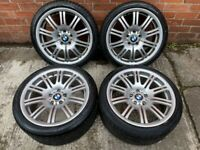 19'' GENUINE BMW M3 E46 67 M SPORT E90 F30 2 ALLOY WHEELS TYRES ALLOYS 5X120