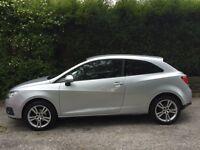 Silver Seat Ibiza, 28,000 miles, air con, cruise control, 3 door, central locking, electric windows