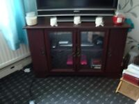 BARGAIN,DUE TO HOUSE MOVE , MAHOGANY TV UNIT ,IMMACULATE CINDITION