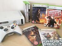 *GREAT BUNDLE* - Xbox 360 Console + Official Controller + 7 Games + All Leads - Full Working Order