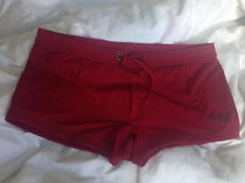 Emporio Armani red swim trunks, only £20!