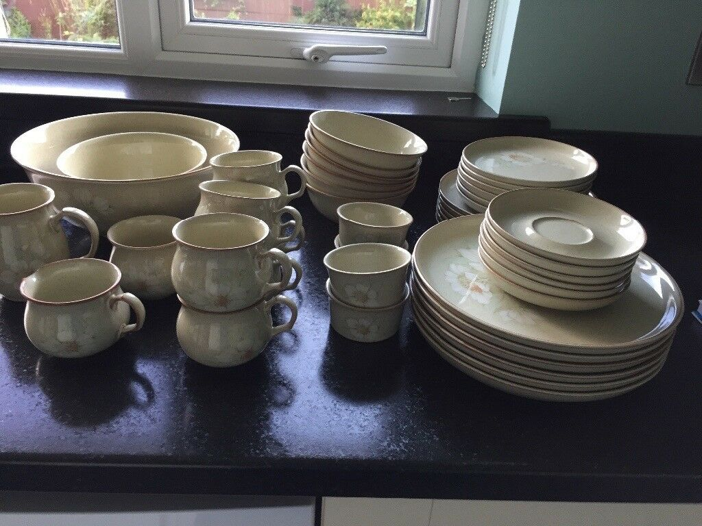 Denby daybreak crockery set.