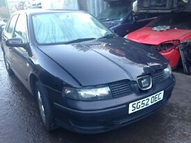 2002 Seat Leon S 16v 1.4 5dr Hatchback Petrol Black BREAKING FOR SPARES