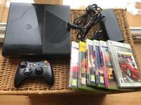 Xbox 360 slim console and games. 250GB