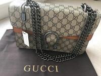 Ideal as Christmas gift. Stylish Gucci's Dionysus GG Supreme shoulder bag