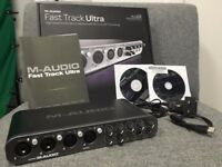 M-Audio Fast Track Ultra 8 In + 8 Out Channels MIDI AUDIO INTERFACE with Protools SE USB 2.0 8x8