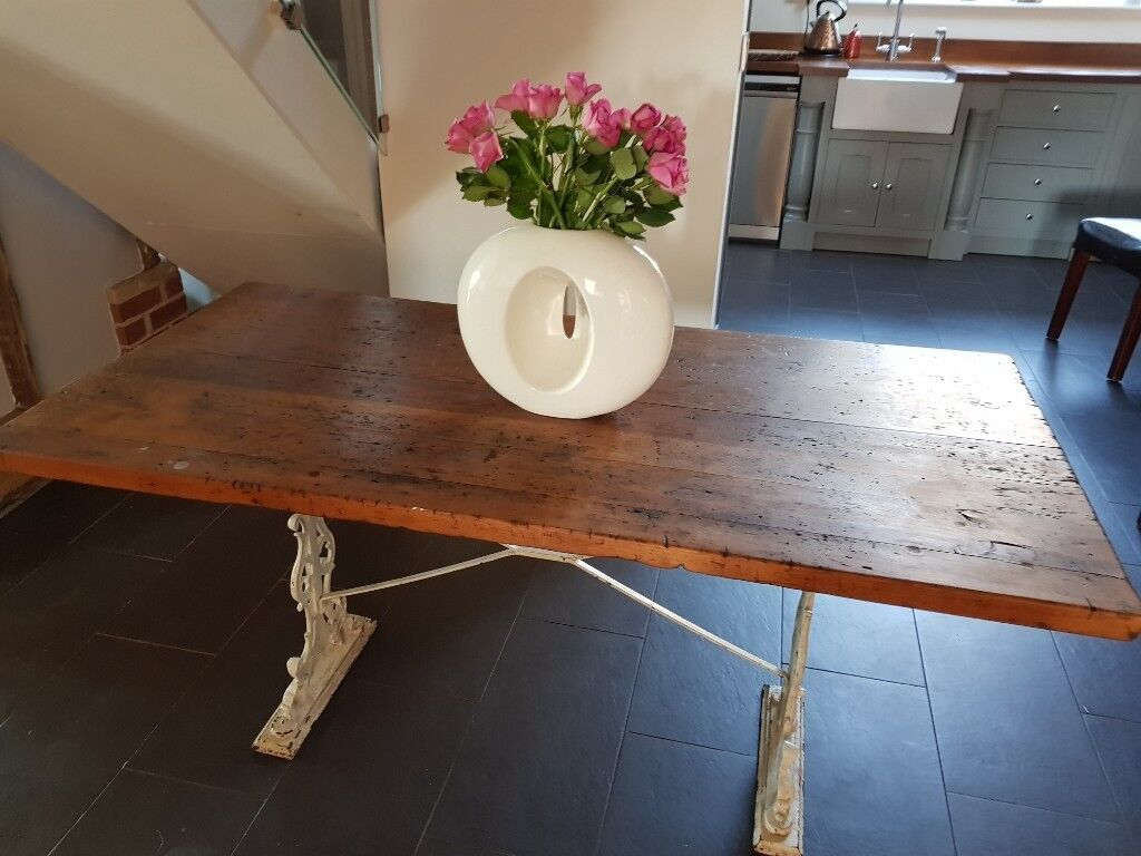 Shabby Chic Old Farmhouse Dining Table Or Sideboard In Ipswich