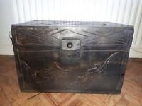 Wooden chest trunk blanket box