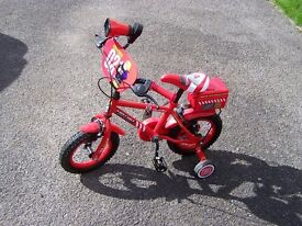 "Child Bike Halfords Appollo Firechief 12"" 3 years approx."