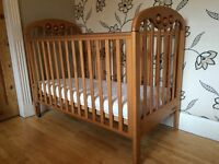 LOVELY PINE COSATTO HAWAII COT WITH MATTRESS