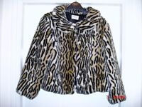Ladies jackets. Leather,(worn once) faux fur (worn once) wool mix(new/unworn) All exc condition.