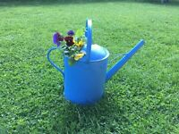 Rustic and Colourful Watering Can Flower Pots