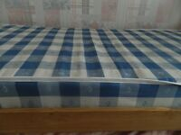 2 x SOLID WOOD SINGLE BED WITH MATTRESS