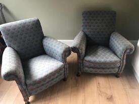 Pair of 1920s arm chairs