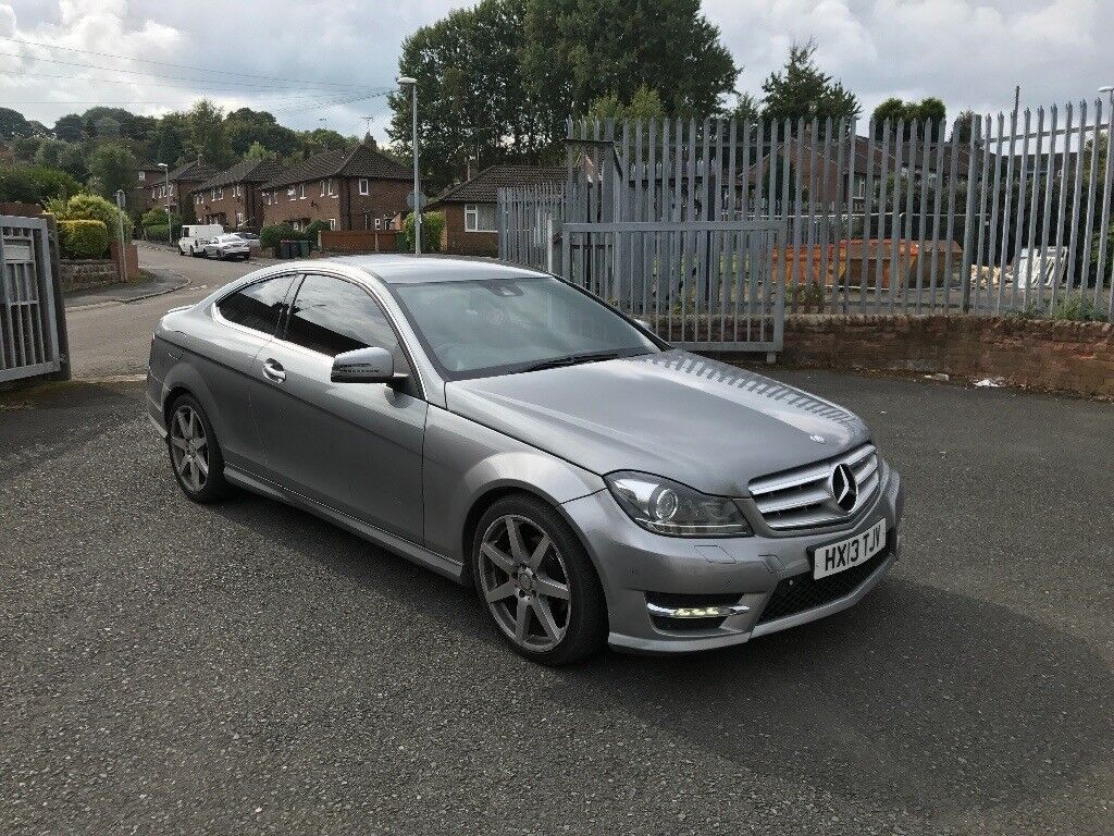 mercedes c class coupe amg sport plus low mileage 50k 2013 c250 not c220 or c350 in telford. Black Bedroom Furniture Sets. Home Design Ideas