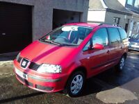 2004 Ford Seat Alhambra 2.0 petrol full 7 seater 1 yrs mot only done 97000mls