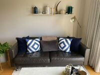 Comfortable Leather 3-seater Sofa