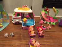 Camper van with dolls and playsets