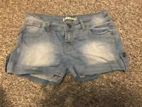 Denim shorts size 10