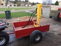 10 ton hydraulic log splitter on trailer