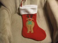 XMAS STOCKINGS. MATERIAL AND KNITTED.