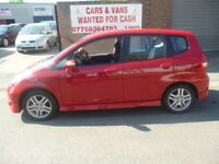 Honda JAZZ Sport CVT,3 dr hatchback,rare auto,1 previous owner,2 keys,FSH,runs and drives as new,52k