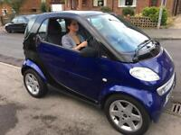 2002 SMART CAR. GLASS ROOF MODEL. STUNNING CAR. 73000 MILES ONLY.