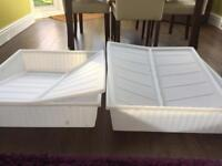 Two IKEA Under Bed Storage Boxes with Lids