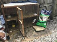 Rabbit Hutch and Rabbit food and Rabbit Grass