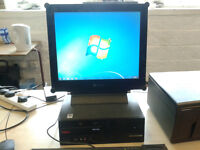 """Cheap Windows 7 PC setup with 17"""" screen and printer ready to go"""