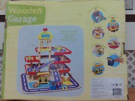 Woden toy garage
