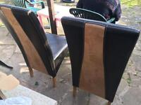 Black dining chairs