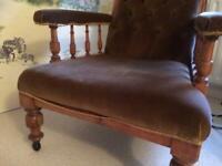 Edwardian walnut framed chair