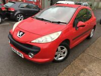 2006 PEUGEOT 207**RED**1.4 PETROL*WARRANTED MILEAGE* 12 MONTHS MOT**HPI CLEAR