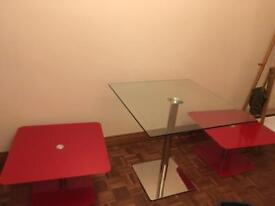 3 glass tables £40