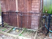 """PAIR WROUGHT IRON GATES...4ft wide x 2ft 10"""" high EACH GATE"""
