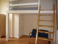 LOVELY MODERN SPACIOUS DOUBLE BED MEZZANINE STUDIO FLAT,WITH USE OF GARDEN, INCLUSIVE OF WATER RATES